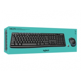 Teclado + Mouse Logitech Wireless MK270 Multimedia Ingles UK