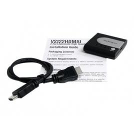 Conmutador KVM Startech HDMI 2 Monitores