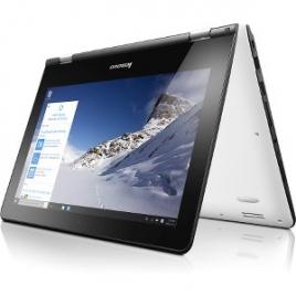 "Portatil 360 Lenovo Yoga 300-11IBR CEL N3060 4GB 500GB 11.6"" HD Tactil W10 Black/White"