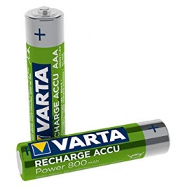 Pila Recargable Varta Power Tipo AAA 800MAH Ready TO USE Pack 2