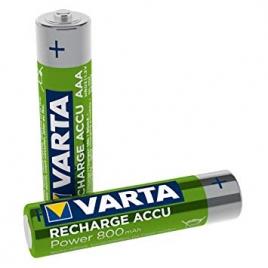 Pila Recargable Varta Power Tipo AAA 800MAH Ready TO USE Pack 2