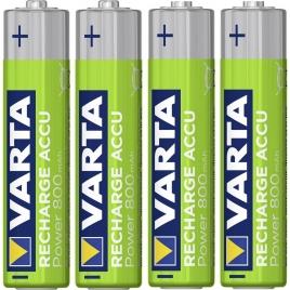 Pila Recargable Varta Power Tipo AAA 800MAH Ready TO USE Pack 4