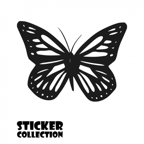 Sticker Adhesivo para Tablet HT Butterfly Black