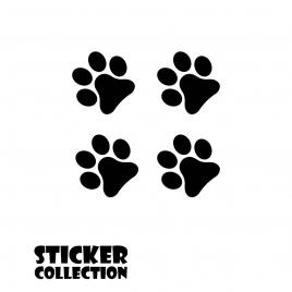 Sticker Adhesivo para Tablet HT Small Paws Black