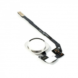 Cable Flex Boton Home con Lector Huellas Plateado para iPhone 5S