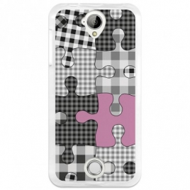 Funda Movil Back Cover Becool GEL Puzzle Black/Pink Acer Liquid Z330