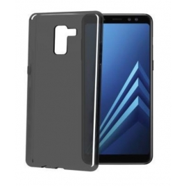 Funda Movil Back Cover Celly Gelskin Transparente Black para Samsung A8 2018