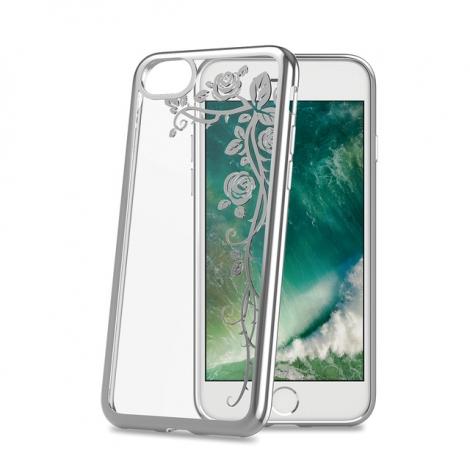 Funda Movil Back Cover Celly Laser Transparente Flower para iPhone 7/8