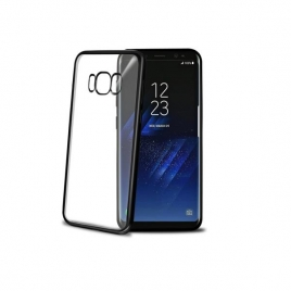 Funda Movil Back Cover Celly Laser Transparente/Black para Samsung Galaxy S8+