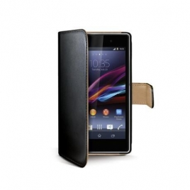Funda Movil Celly Wally Black para Sony Xperia Z1