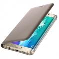 Funda Movil Samsung Flip Wallet Gold Galaxy S6+ Edge
