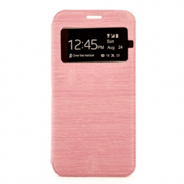 Funda Movil X-ONE Flip Case Window Pink para Samsung J5 2016