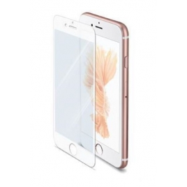 Protector de Pantalla Celly Cristal Templado White para iPhone 7/8