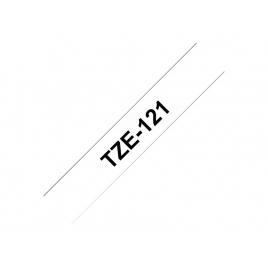 Cinta Brother TZE121 8Mmx8m Transparente/Black