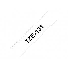 Cinta Brother TZE131 12Mmx8m White/Black