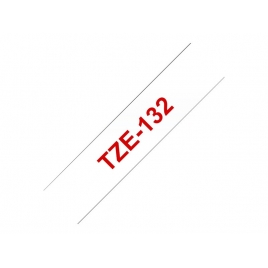 Cinta Brother TZE132 12Mmx8m White/Red
