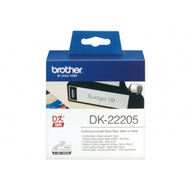 Etiquetas Brother White 62MM X 30.48M Continuo QL500 QL550 QL560