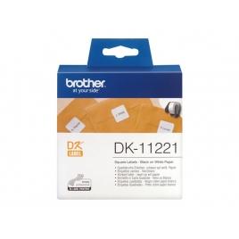 Etiquetas Brother White QL-500 23X23MM 1000 Etiquetas