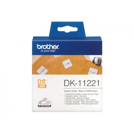 Etiquetas Brother White QL-500 23X23MM 1000 Etiquetas