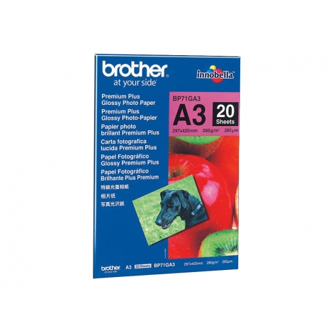 Papel Brother Fotografico Premium Plus Glossy A3 20H