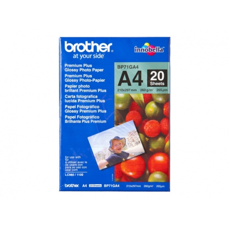 Papel Brother Fotografico Premium Plus Glossy A4 20H