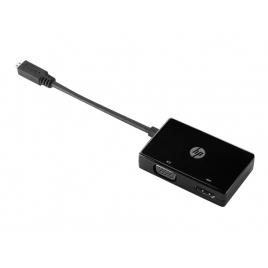 Adaptador HP Micro HDMI Macho / VGA Hembra / HDMI Hembra OTG