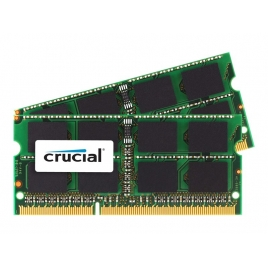 Modulo Memoria DDR3 8GB BUS 1600 Crucial Sodimm para MAC (KEY 2X4GB)