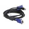 Cable VGA 15 Macho / 15 Macho 1.8M + TEC + RAT USB