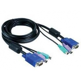 Cable VGA 15 Macho / 15 Macho 1.8M + TEC PS2 + RAT PS2