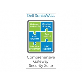 Servicio Sonicwall Comprehensive Gateway Security Suite Bundle NSA 2600 Series 2 AÑOS