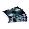 Archivador Caja CD Fellowes 1 Unidad Black Slim Pack 10U