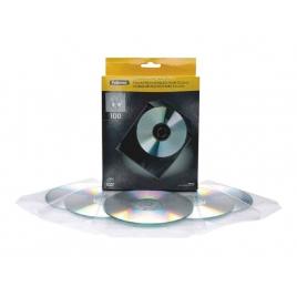 Archivador Sobre Cd/Dvd 1 Unidades Plastico Pack 100U