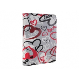 "Funda Tablet E-VITTA 10"" Crazy Hearts Cover Stand"