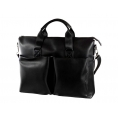 "Maletin Portatil E-VITTA 16"" Elegant Briefcase Leather Black"