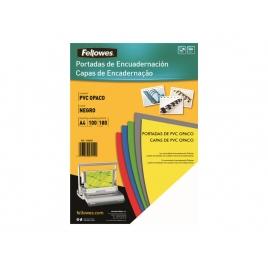 Portada Fellowes Opaca Black PVC A4 180 Micras 100H