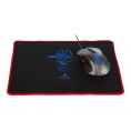 Mouse NGS Gaming GMX-105 2400 DPI 7 Colores Silver/Blue USB + Alfombrilla