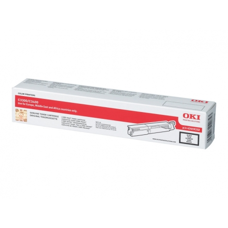 Toner OKI 43459332 Black C3300 C3400 2500 PAG