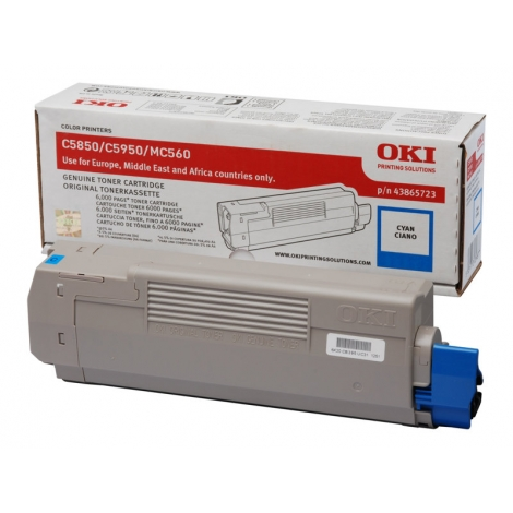 Toner OKI 43865723 Cyan C5850 C5950 6000 PAG