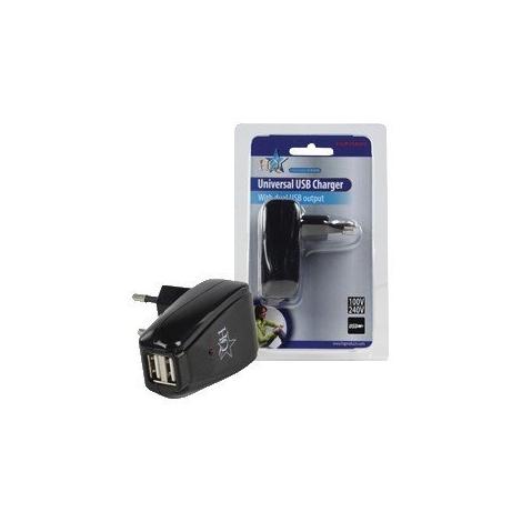 Cargador USB HQ USB402 2Xusb para Casa