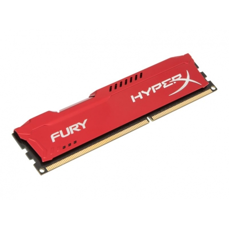DDR3 8GB BUS 1600 Kingston CL10 Hyperx Fury red