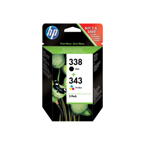 Cartucho HP 338 Y 343 Combo Pack 5740/6520/6540/6840 PSC 1510 Officejet 6210