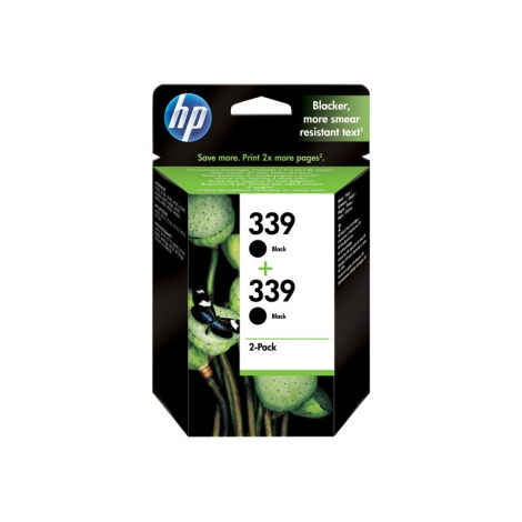 Cartucho HP 339 Black Pack 2U 5740/6520/6540/6840