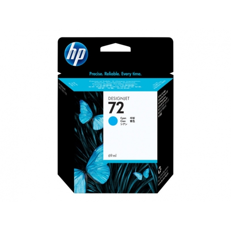 Cartucho HP 72 Cyan Desingnjet T1100/T1100ps