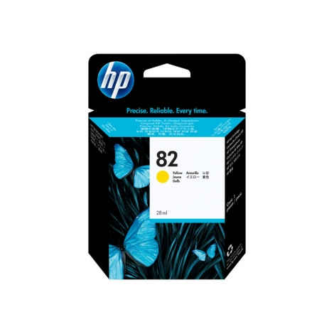 Cartucho HP 82 Yellow Designjet