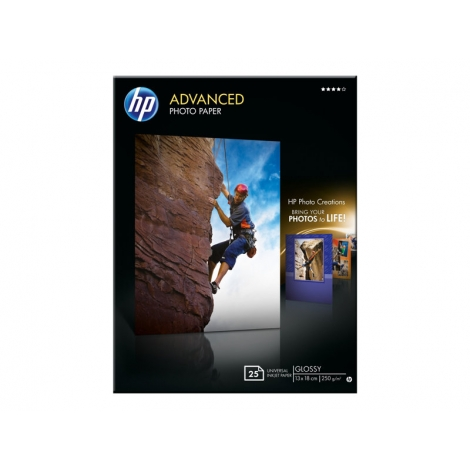 Papel HP Advanced Photopapper 13X18CM 25H