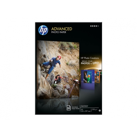 Papel HP Fotografico Advanced Photo Paper A4 50H