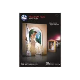Papel HP Premium Plus Photo Paper Glossy A6 20H 300GR