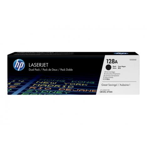 Toner HP 128A Black Dualpack CM1415 CP1525 2X 2000 PAG