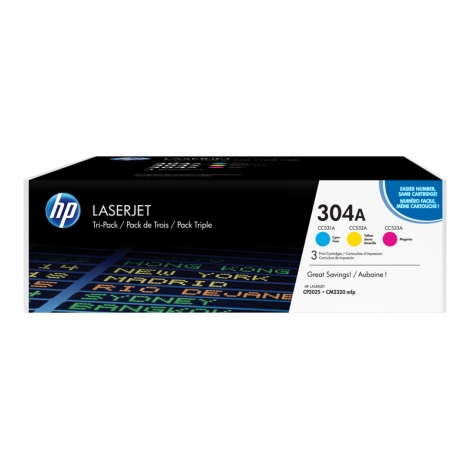 Toner HP 304A Multipack CP2025 CM2320 3X 2800 PAG