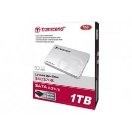 """Disco Duro SSD Transcend 370S 512GB Sata6 2.5"""" + Bahia 3.5''"""